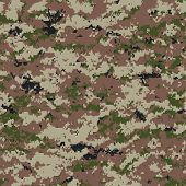 stock photo of camo  - digital camouflage seamless pattern  - JPG