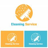 Cleaning Service Isolated Vector Logo Template With Sample Text, Vacuum Cleaner Head In Circle, Carp poster