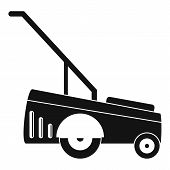 Motor Grass Cutter Icon. Simple Illustration Of Motor Grass Cutter Vector Icon For Web Design Isolat poster
