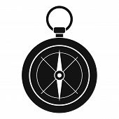 Compass Icon. Simple Illustration Of Compass Vector Icon For Web Design Isolated On White Background poster