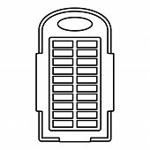 Power Bank Solar Panel Icon. Outline Illustration Of Power Bank Solar Panel Vector Icon For Web Desi poster