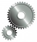 picture of gear wheels  - Gear set on the white background - JPG