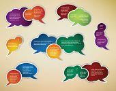 Постер, плакат: сбор различных разговор речи пузыри