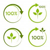 Постер, плакат: Сто процентов recyclable логотип