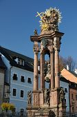 image of banska  - Holy Trinity Plague Column in Banska Stiavnica - JPG