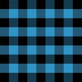 Lumberjack Plaid. Scottish Pattern In Blue And Black Cage. Scottish Cage. Scottish Checkered Backgro poster