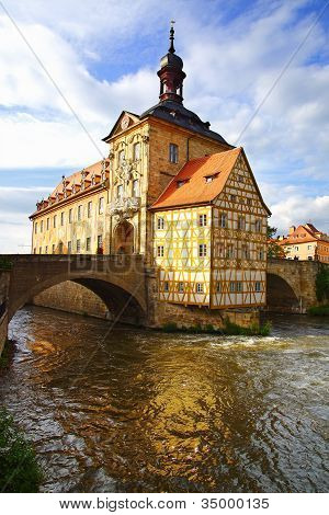 Medieval town hall on the bridge Bamberg