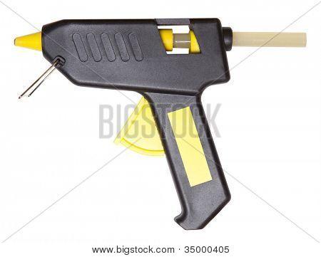 Heißklebepistole isoliert auf weiss