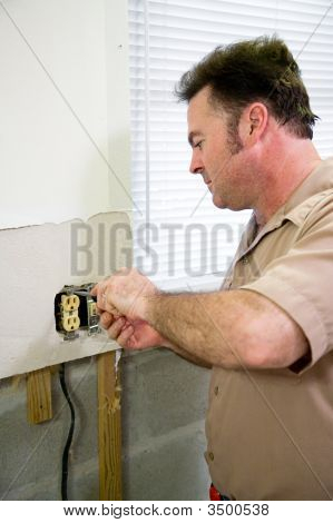 Electrician With Receptacle