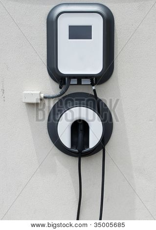New charging station for electric car.