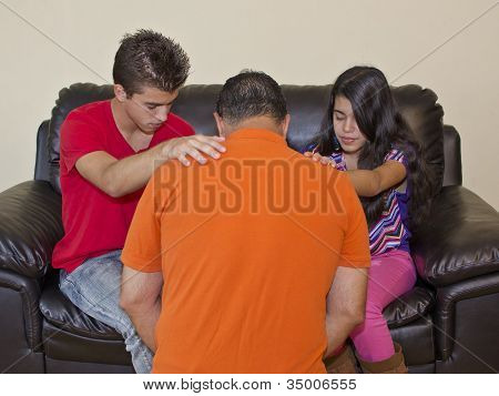 Family Praying For Each Other