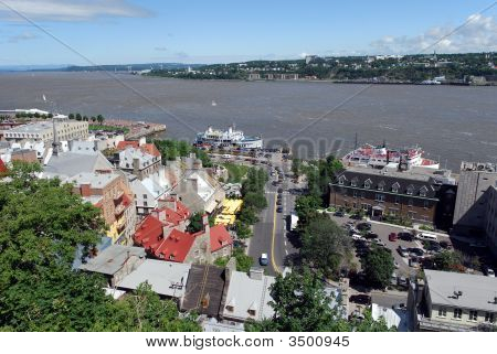 Quebec City And St. Lawrence River