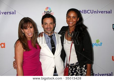 LOS ANGELES - AUG 1:  Melissa Rivers, George Kotsiopoulos, Joy Bryant arriving at the NBC TCA Summer 2011 All Star Party at SLS Hotel on August 1, 2011 in Los Angeles, CA