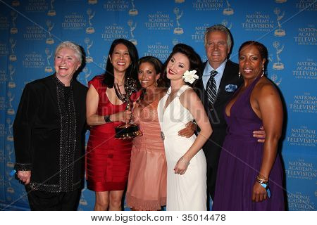 LOS ANGELES - JUN 17:  Susan Flannery, Bold & Beautiful Makeup Winners, John McCook at the 38th Annual Daytime Creative Arts & Entertainment Emmy Awards on June 17, 2011 in Los Angeles, CA