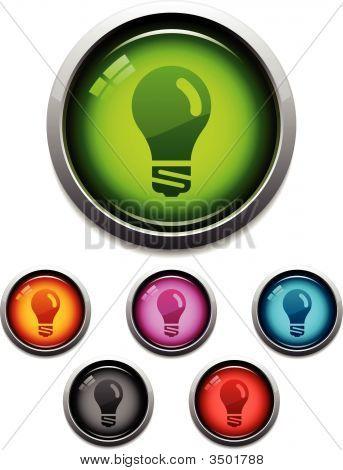 Lightbulb Glossy Icons