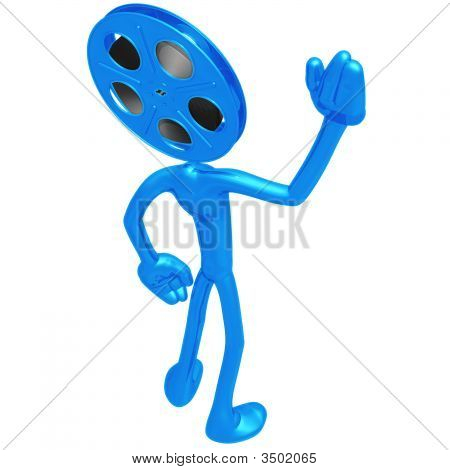 Film Reel Head Waving