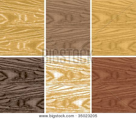 Seamless vector wooden patterns for backgrounds