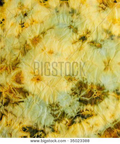 Abstract bright textile in batik's technique