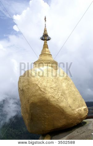 Golden Rock In Kyaiktiyo