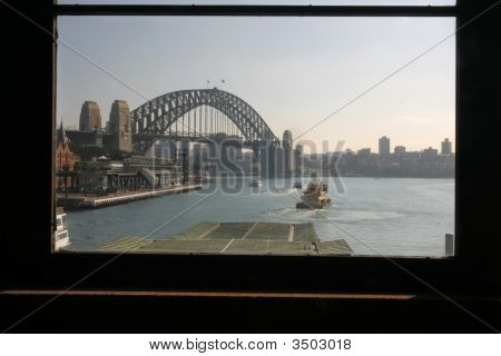Window With Harbour Bridge