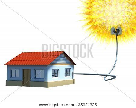 House using a solar energy