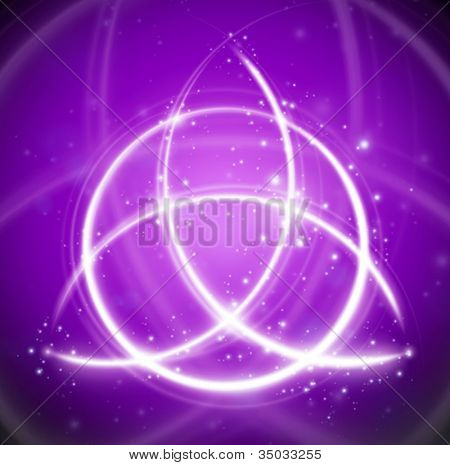 magic background celtic knot shape sign - vector