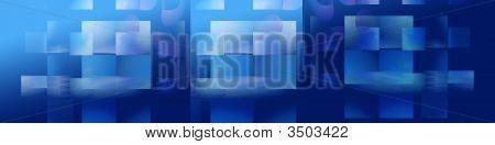 Banner: blau Kubismus