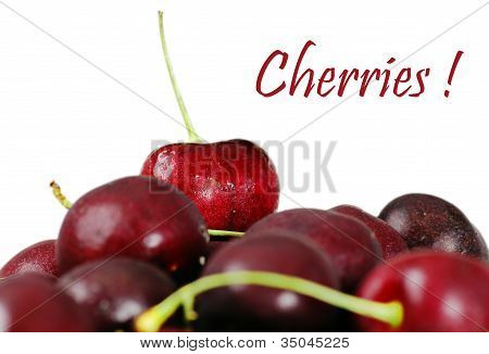 Delicious Cherries Focus On Top One