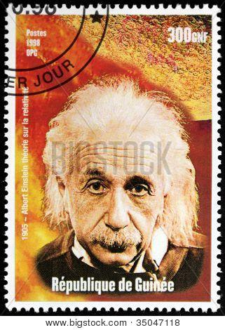 Einstein - Guinea Stamp