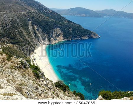 Myrthos beach, Kefalonia, Greece