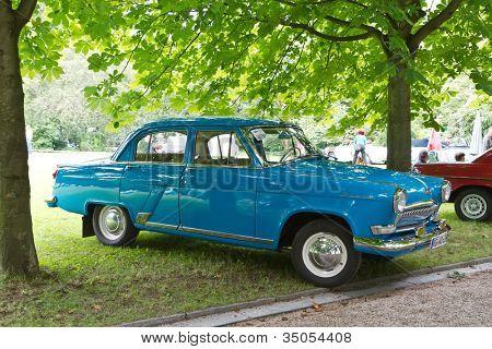 BADEN-BADEN, GERMANY - JULY 13:  A GAZ M21 VOLGA (1960)  at The International Exhibition of old cars