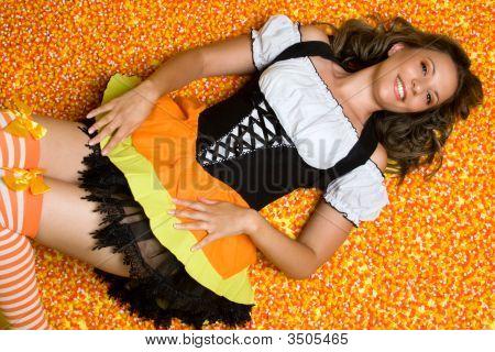 Beautiful Candy Woman