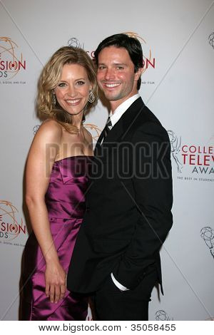 LOS ANGELES - APR 9:  KaDee Strickland, Jason Behr arriving at the 32nd Annual College Television Awards at Renaissance Hotel Hollywood  on April 9, 2011 in Los Angeles, CA