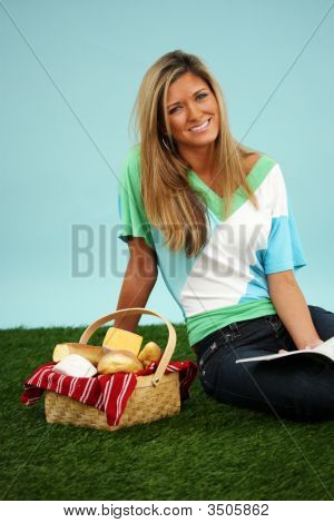 Woman On A Picnic