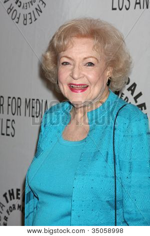 "LOS ANGELES - MAR 8:  Betty White arriving at the ""Hot in Cleveland"" PaleyFest 2011 Event at Saban Theatre on March 8, 2011 in Beverly Hills, CA"