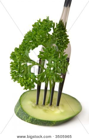 Fork Cucumber Parsley