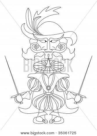 Noble fencer, contour