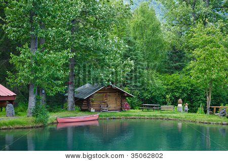 cabin in Hope Alaska