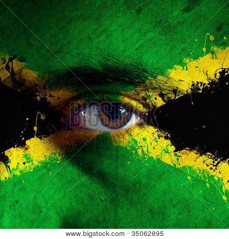 Jamaican Flag On Face