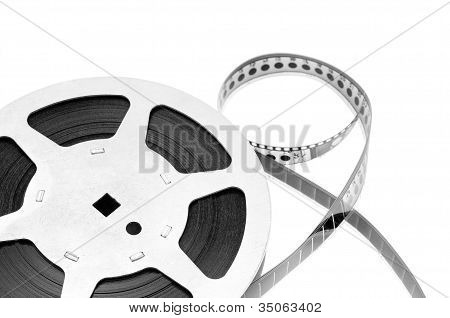 Old Film Strip Isolated On White Background