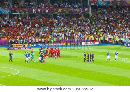 Final Football Game Of Uefa Euro 2012