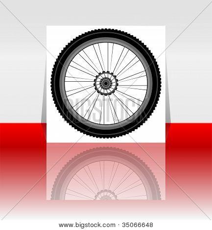 Bike Wheel Flyer Or Cover - Vector