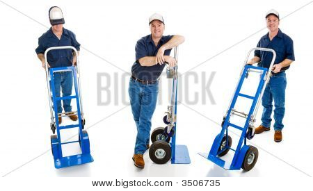 Three Delivery Guys With Dollies