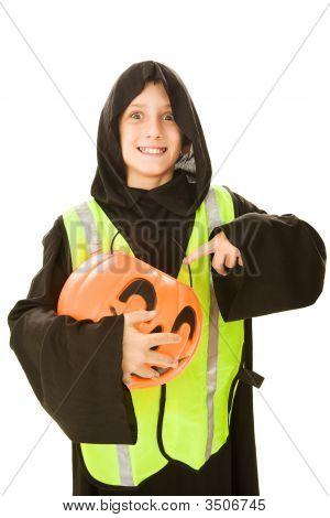 Halloween Boy Hungry