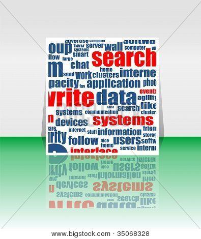 Word Cloud Social Network. Internet. Community