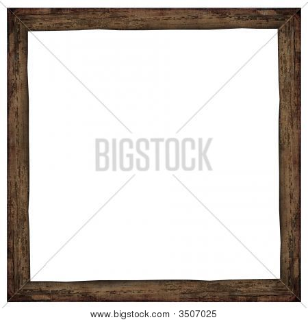 Aged Wooden Frame - Dark Brown