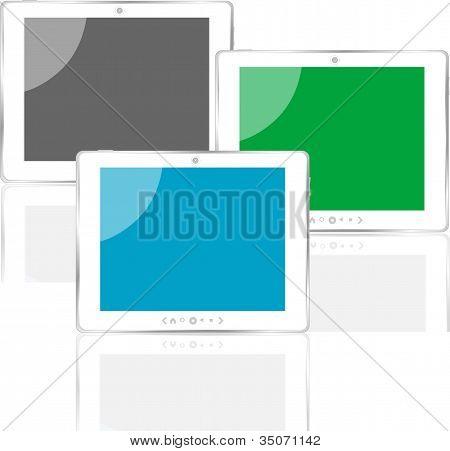verschiedene farbige vertikale TabletPC set mit Bildschirm