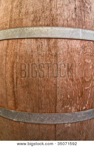 Wooden Barrel Backgroung