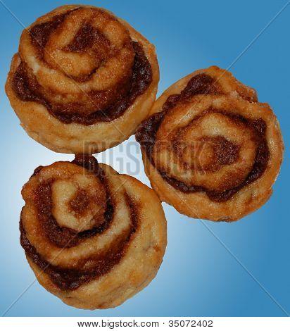 Three Cinnamon Rolls in Heaven