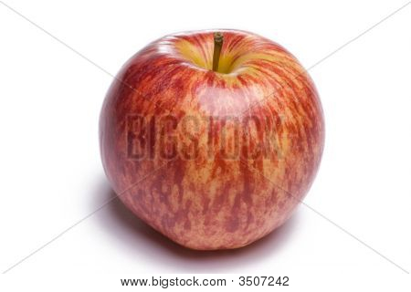 Red Apple Sitting On White